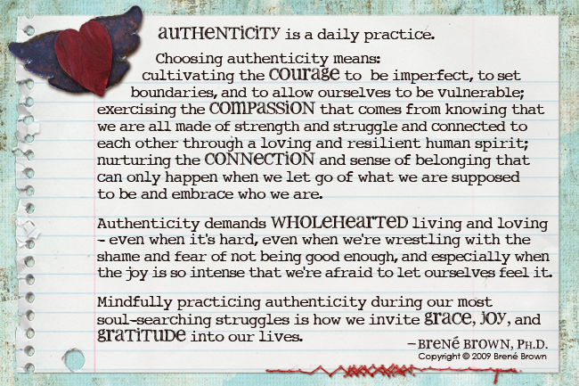 Chose Authenticity!